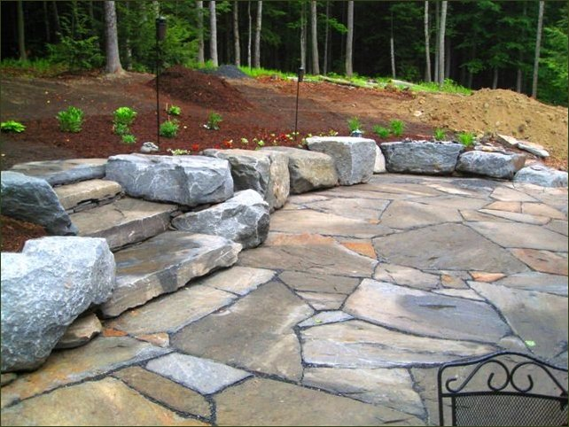 Flagstone Patio With Stone : Inspiring flagstone patio design ideas